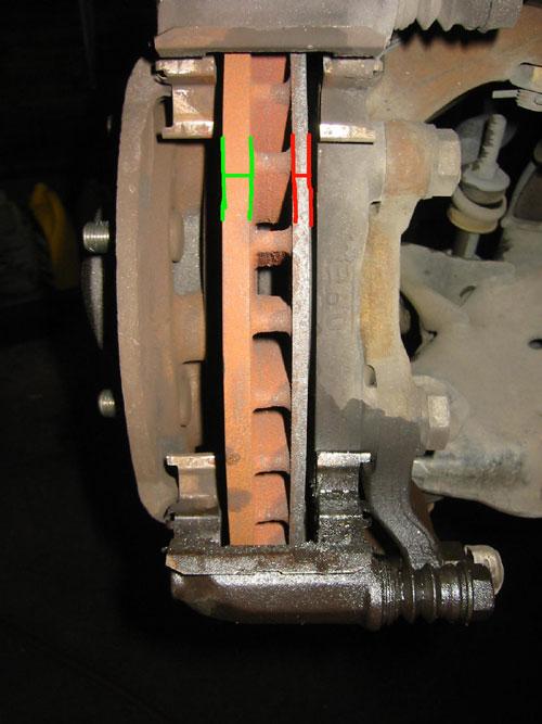 Minimum Thickness For Brake Pads : Maintenance brake inspection
