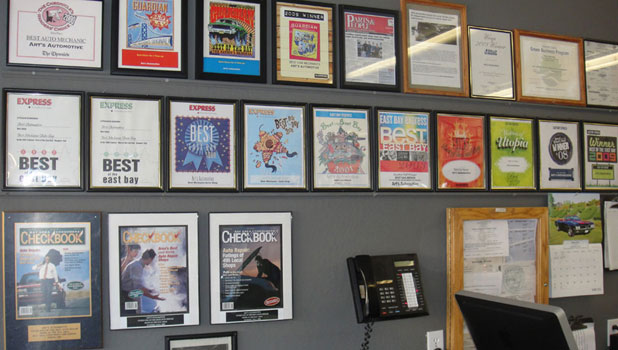 front office award wall
